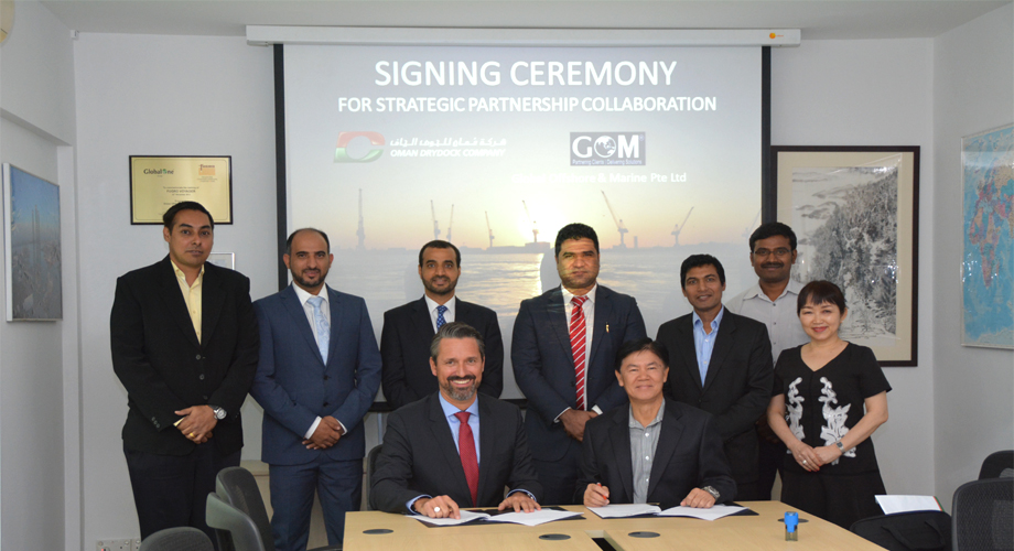 SIGNING CEREMONY-OMAN DRYDOCK COMPANY & GLOBAL OFFSHORE & MARINE PTE LTD